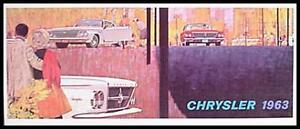 1963 Chrysler Brochure, New Yorker, 300, Newport, XLNT