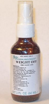 2 Oz Homeopathic Diet Support, Weight Off, Mediral Formula, Weight Loss