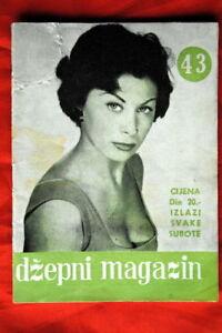 FRANCOICE-FABIAN-ON-COVER-1957-VERY-RARE-EXYU-MAGAZINE