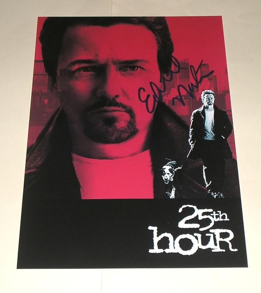 """25TH HOUR PP SIGNED 12""""X8"""" POSTER EDWARD NORTON"""