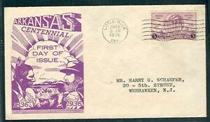 US-782-3-Arkansas-FDC-Dyer-cachet-Mellone-15-00