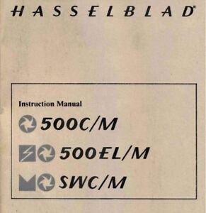 HASSELBLAD-500CM-500ELM-SWCM-INST-MANUAL-FREE-SHIP