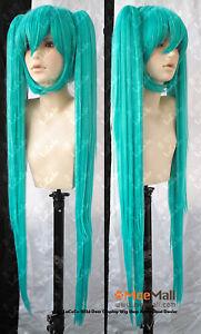 Vocaloid-Miku-Hatsune-120cm-Cosplay-Wig-w-Ponytails
