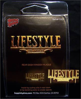 Hoppin Hydros 1/24-25 Scale Lifestyle Lowrider Car Club Window Plaque For Models