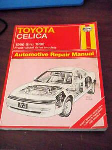 toyota celica 1986 1992 front wheel drive models manual repair book guide ebay Toyota Tacoma Manual Toyota Manual Transmission Diagram