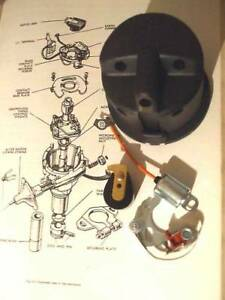 FORD-Anglia-105e-DISTRIBUTOR-CAP-POINTS-ROTOR-ARM-CONDENSER-IGNITION-Side-Entry
