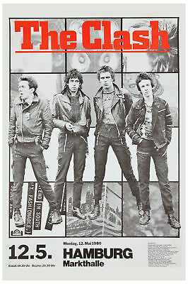 Classic Punk: The Clash at Germany Tour  Concert Poster 1980