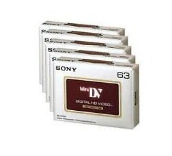Sony-DVM63-Hi-Def-HD-5pk-Mini-DV-Camcorder-Tapes-BRAND-NEW-UK-Hi-Definition