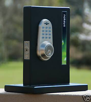 electronic remote keypad keyless door lock deadbolt ebay. Black Bedroom Furniture Sets. Home Design Ideas