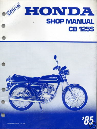 CB125S Manuals and Literature Parts and Accessories For Sale