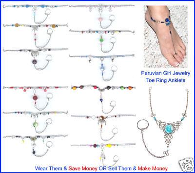 20 Toe Anklets Belly Dance Slave Anklet Jewelry Peru