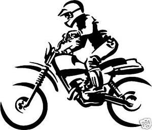 motorbike vinyl decal sticker bike graphic moto trailer ebay. Black Bedroom Furniture Sets. Home Design Ideas