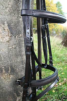 Heritage 100% English Leather & Made Padded Comfort Bridles Best Quality On Ebay