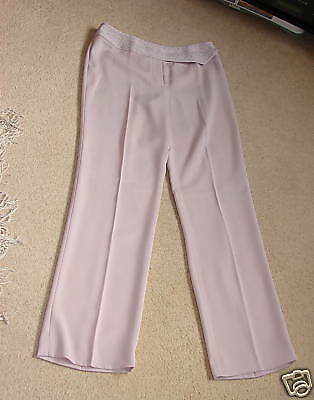 Next Pink Polyester Embroidery Trousers(new)-uk Size 8