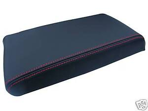 FITS-NISSAN-SKYLINE-R33-LEATHER-ARMREST-COVER-RED-STITCH