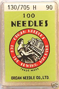 Organ-Sewing-Machine-Needles-Universal-130-705H-SIZE-90-x-BOX-of-100-BLB94