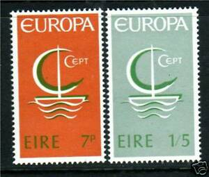 Ireland-1966-Europa-SG-223-4-MNH