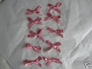 20-Pink-satin-ribbon-bows-5cm-approx
