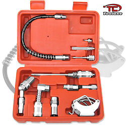 Multi Func. Zerk Fittings Lubrication Aid Kit Great Grease Gun Automotive Tool