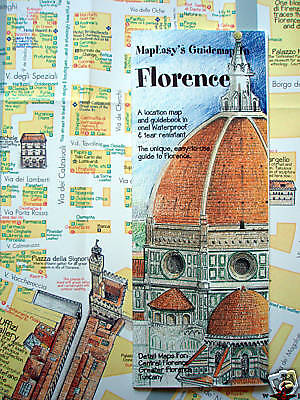 NEW '05 MAP of FLORENCE, ITALY~MapEZ Guide +Details of Central Florence, Tuscany