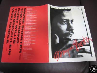 Wayne Shorter 1986 Japan Tour Program Book