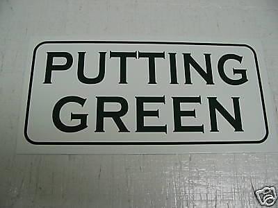 PUTTING GREEN Metal Sign Golf Course NEW Tin Ball WOA