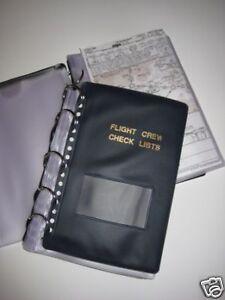 NEW-Flight-Crew-Checklist-Binder-Military-25-Sheets