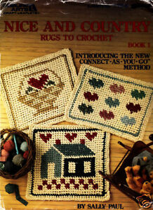 Crocheting Rugs Book : Details about Craft Books: #1056 Nice & Country Rugs to Crochet