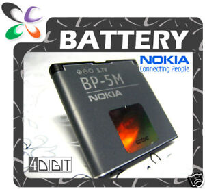 GENUINE/ORIGINAL Nokia BP5M/BP-5M 5700/6500-Slide/6500Slide/8600-Luna Battery