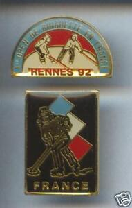 2-RARES-PINS-PIN-039-S-SPORT-HIVER-ICE-HOCKEY-SUR-GLACE-CLUB-9B