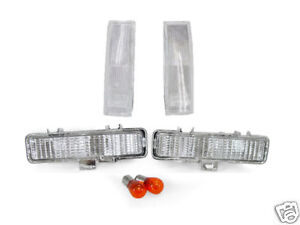 USA-82-93-CHEVY-S10-S-10-CLEAR-CORNER-BUMPER-LIGHTS-NEW