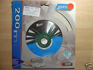 Norton Diamond Tile / Ceramic / Porcelain / Gran Disc Cutting Blade 200 x 25.4mm