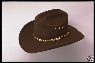 New-White-Faux-Felt-Cowboy-Hat-Elastic-Adult-or-Kids