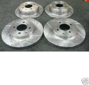 FIAT PUNTO 1.8HGT 2001-2003 BRAKE DISC FRONT REAR DRILLED GROOVED