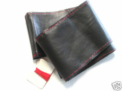 Steering Wheel Cover Black Genuine Leather Tuning Universal 1