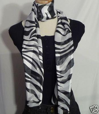 Oblong-Satin-Sateen-Zebra-Tiger-Print-Neck-Scarf-Sash