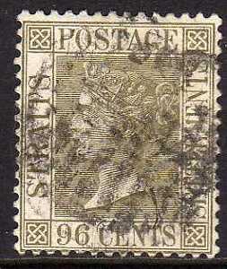 Straits Settlements 1883 SG 71 CANC VF