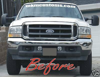 2002 f250 f350 chrome ford superduty grille super duty grill ebay. Black Bedroom Furniture Sets. Home Design Ideas