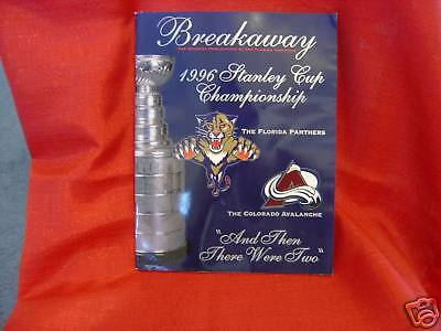 Florida Panthers 1996 Stanley Cup Program NHL on Rummage