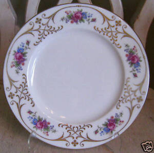 Lenox-USA-RadiEnCE-Rose-Floral-Gold-Scrolls-Lunch-Plate-s-2020-L335-c1936