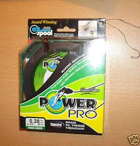 POWERPRO Pesca Treccia  500yd 88lb verde Power Pro