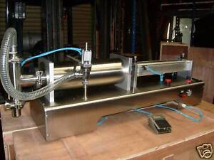 liquid piston filler filling machine in minto nsw ebay. Black Bedroom Furniture Sets. Home Design Ideas