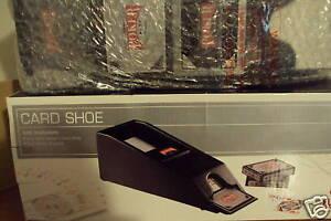 4-DECK-DEALER-039-S-CARD-SHOE-amp-4-DECK-OF-CARDS-NIB