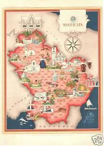 ANTICA-CARTINA-BASILICATA-STAMPA-IMAGO-ITALIAE-FARMITALIA-TAV-III-1950