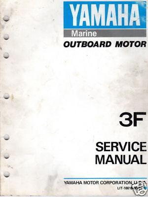 YAMAHA OUTBOARD MOTOR 3F SERVICE MANUAL