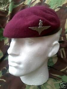 Parachute Para Regiment Maroon beret & Cap Badge KC NEW