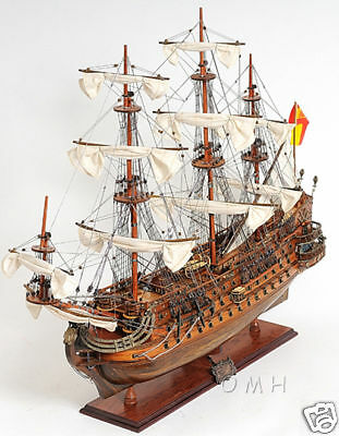 "1690 San Felipe 28"" Wooden Tall Ship Model Spanish Warship ..."