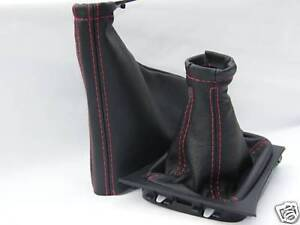 FITS VAUXHALL CORSA C LEATHER GEAR  HANDBRAKE GAITER BLACK