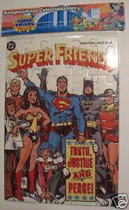 SUPER FRIENDS JIGSAW PUZZLE AQUAMAN WW RARE silverINA