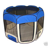 BestPet Blue Dog Cat Tent Puppy Playpen Exercise Pen Soft Crate W/Carry Case S